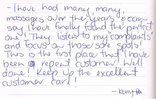 Testimonial by Kerry