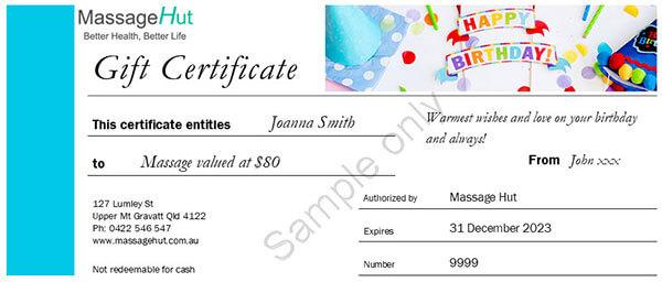 Birthday gift voucher sample